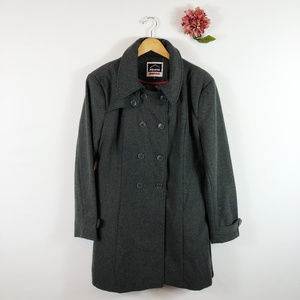 [ALPINE SWISS] WInter Pea Coat Wool Blend